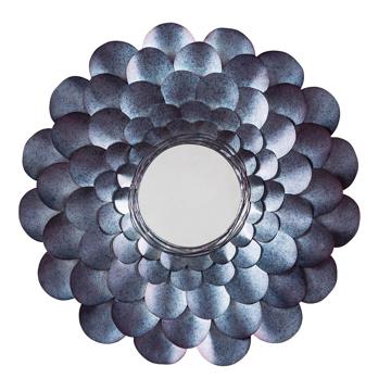 Picture of Deunoro Blue Metal Round Mirror