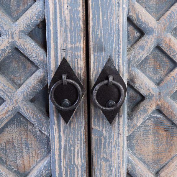 Picture of Antigua Distressed Blue 4 Door Sideboard