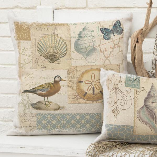 "Picture of Shorebirds 18"" x 18"" Accent Pillow"