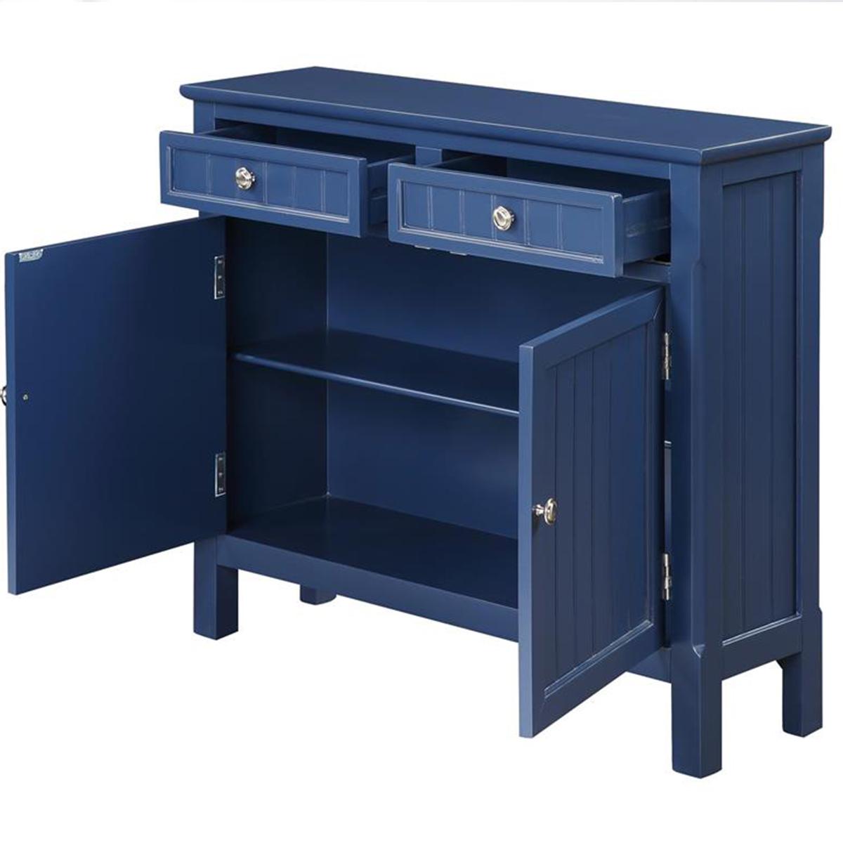 Picture of BLUE 2 DRAWER 2 DOOR CABINET